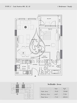 Apartment Floor Plan - Axis Silver DSO